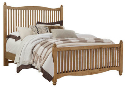 Belvedere Slat Bed Traditional Panel Beds By