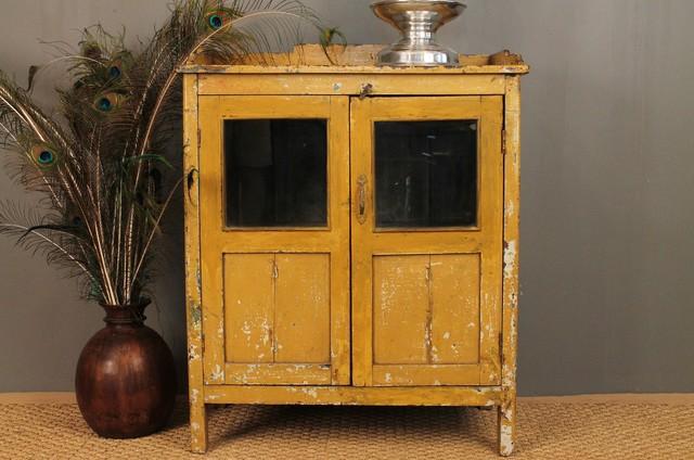 Vintage Mustard Yellow Cabinet Storage Cabinets St