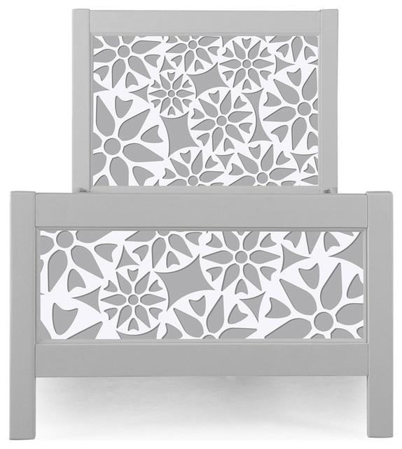P&x27;kolino Prima Nesto Twin Bed, Gray.