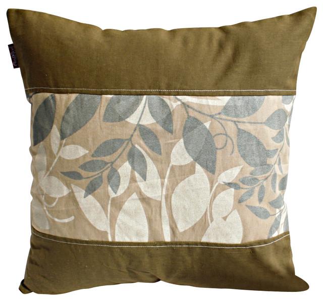 "Deep Woods Linen Stylish Patch Work Pillow Floor Cushion 19.7""x19.7"" midcentury-floor-pillows-and-poufs"