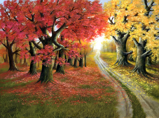 Quot Autumn Splendor Quot Original Oil Painting By H Hargrove