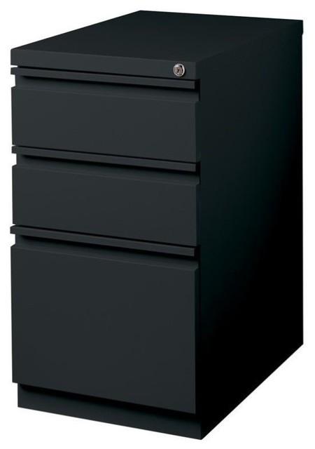 Hirsh Industries 3 Drawer Mobile File Cabinet File In Black.