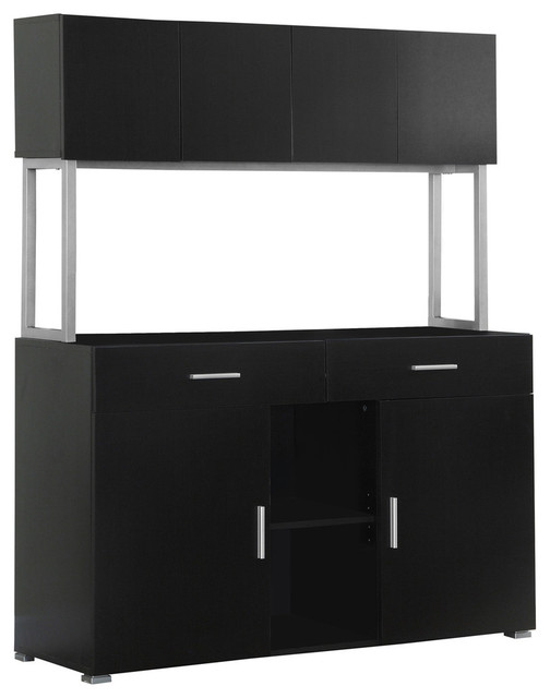 "Office Cabinet, 48""L, Cappuccino Storage Credenza - Contemporary - Filing Cabinets - by ..."