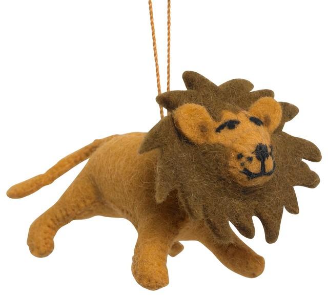 Handmade Felt Lion Christmas Ornament