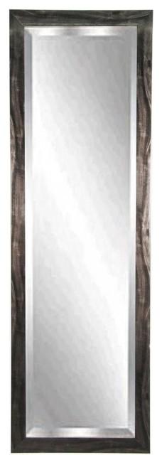 "American Made Black Smoke 24""x62"" Full Body Beveled Mirror."