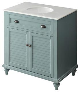 "34"" Cottage Look, Light Blue Glennville Bathroom Sink Vanity"