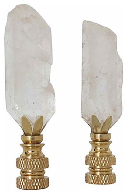 Salt Lamps Bayswater : Rock Quartz Crystal Finials - Mediterranean - Table Lamps - New York - by Omero