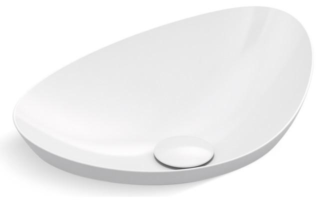 "Kohler K-20704-N Veil 21-1/8"" Vitreous China Semi-Vessel Bathroom Sink - Includ"
