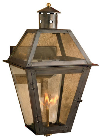 Elk Lighting 7933 Wp Grande Isle 24 Inch Tall Outdoor Wall Mounted Gas Lantern Rustic Lights And Sconces By Buildcom