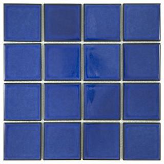 12 Quot X12 Quot Cobalt Blue Square Pool Mosaic Contemporary