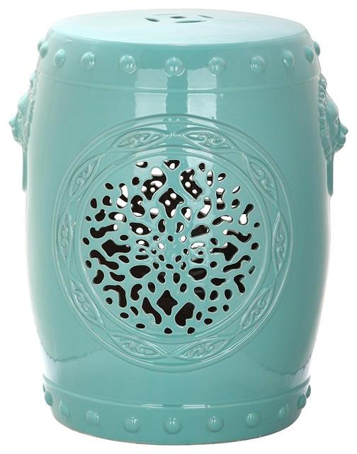 Surprising Castle Gardens Collection Flower Drum Glazed Ceramic Stool Gamerscity Chair Design For Home Gamerscityorg