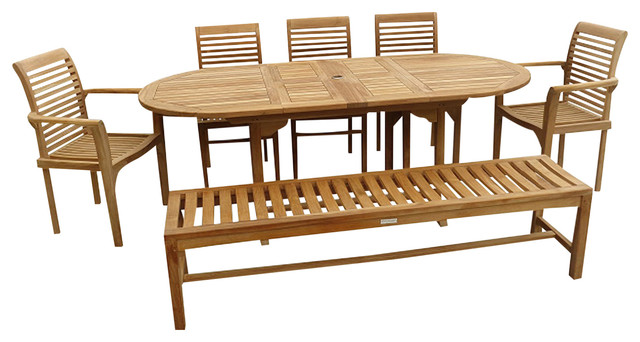 Remarkable Grade A Teak 82 Ext Table With 5 Chairs 1 Bench Seats 9 Andrewgaddart Wooden Chair Designs For Living Room Andrewgaddartcom