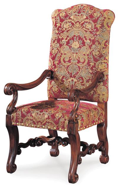 Traditional Dining Chairs cortona arm chair, set of 2 - traditional - dining chairs -