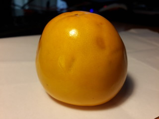 Dark Spots Inside And Outside On Persimmon Fruit
