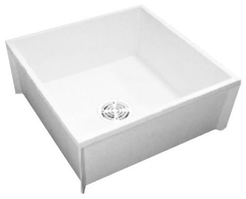 Porcelain Mop Sink : ... Mop Service Sink, White - Transitional - Utility Sinks - by Buildcom