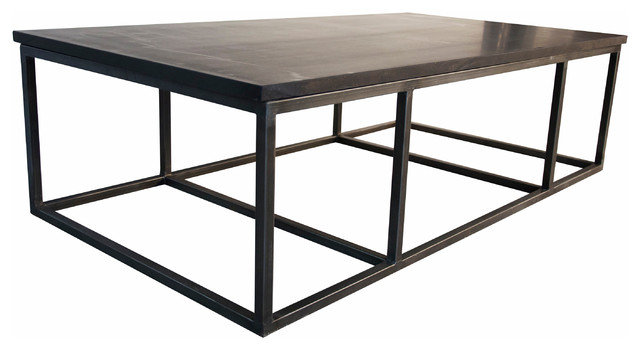 Stone Coffee Table, Large Transitional Coffee Tables