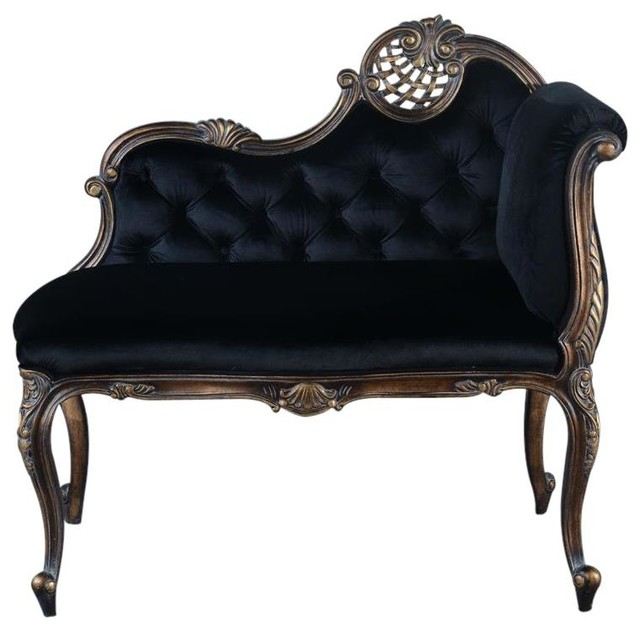 la rochelle french legs antique gold settee victorian loveseats by euroluxhome. Black Bedroom Furniture Sets. Home Design Ideas