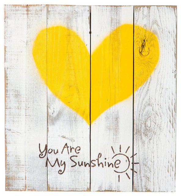 Reclaimed Wood Heart You Are My Sunshine