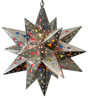 Lighting Ideas With Mexican Amp Rustic Hanging Star Lights