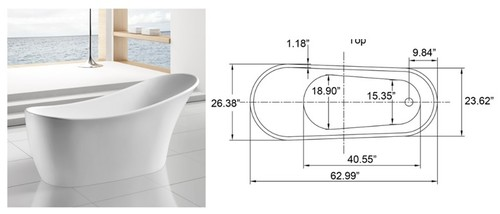Bathroom Tub Facing The Toilet Freestanding Tub Against Wall - Bathroom tub plumbing