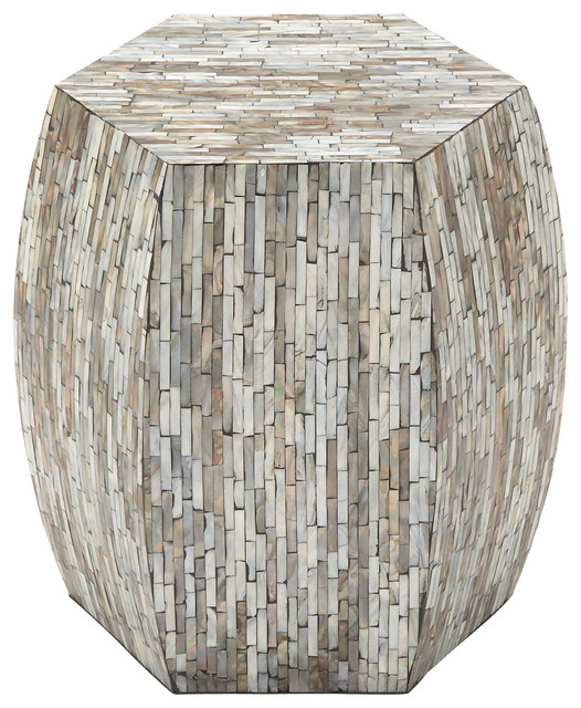 Coastal Living Wood Inlay Accent Table, Multi-Color.