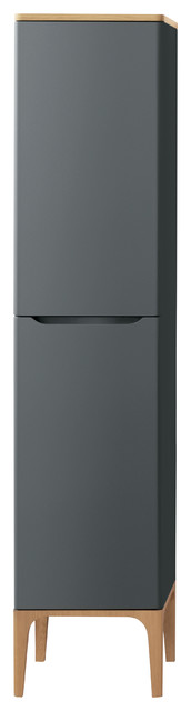 """Ronbow Signature Series 71"""" Tall Side Cabinet, Traffic Gray."""