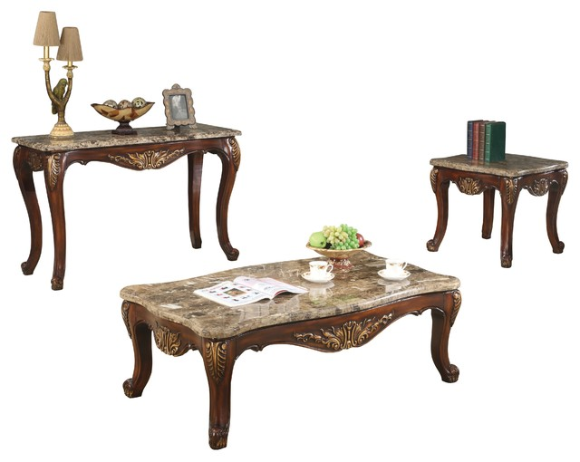 Traditional 4 Piece Living Room Table Set Traditional Coffee Table Sets By Furniture