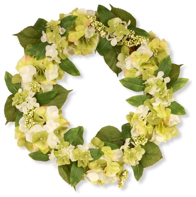 24 Garden Accents Hydrangea Wreath.