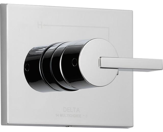 Delta Compel Modern Chrome Single Handle Shower Control Includes Valve D024V