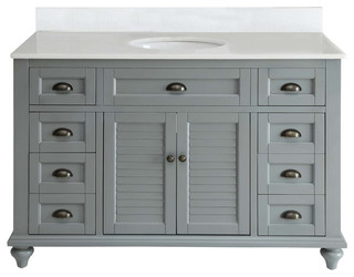 Glennville Cabinet Set, 49\u0026quot;  Beach Style  Bathroom Vanities And Sink Consoles  by Chans