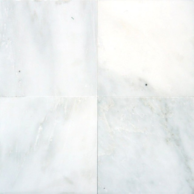 Polished Arabescato Carrara Marble Tile Traditional Wall And