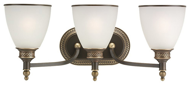 Bathroom Vanity Lights Traditional : Laurel Leaf Bathroom Vanity Lights - Traditional - Bathroom Vanity Lighting - by Lighting New York