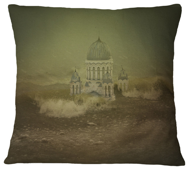 Awesome Covered Old City Landscape Printed Throw Pillow 26X26 Inzonedesignstudio Interior Chair Design Inzonedesignstudiocom