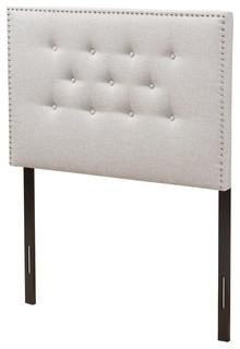 Windsor Fabric Headboard, Grayish Beige