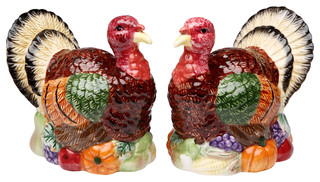 Turkey Salt and Pepper Shakers, Set of 2