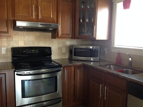Distance Between Countertop And Stove : ... stove.....drives me CRAZY to have it on the countertop! Any ideas