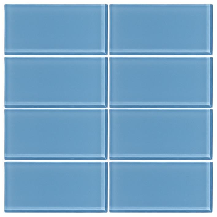 3 X6 Sky Blue Gl Subway Tile