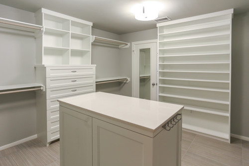 Rice University | Houston, Texas | Contemporary Master Closet Remodel