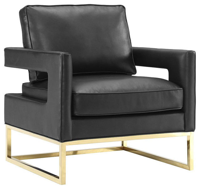 Danever Leather Chair, Black.