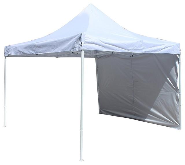 Aleko Gzpw204wh Outdoor Gazebo Canopy Tent, Removable Wall Panel, 10&x27;x10&x27;.