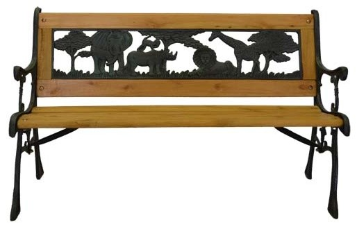 Home Garden Collections Junior Safari Park Bench Cast Iron Kids Park Bench With Resin Back
