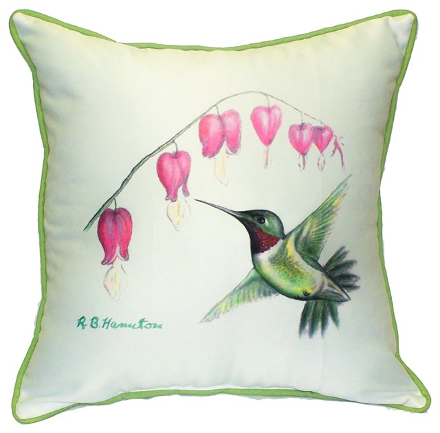 Hummingbird Outdoor - Indoor Pillow - Traditional - Outdoor ...