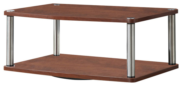 2 Tier Swivel Stand Contemporary Entertainment Centers And Tv