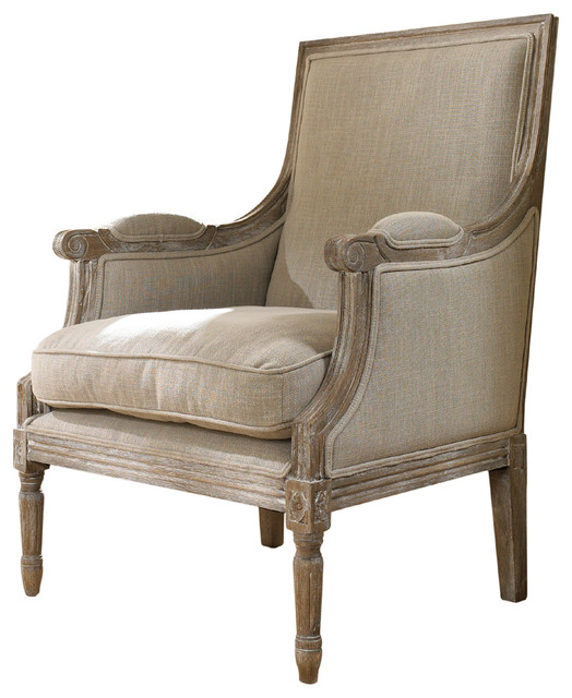 Carolina Beach Lounge Chair Sand Linen Farmhouse