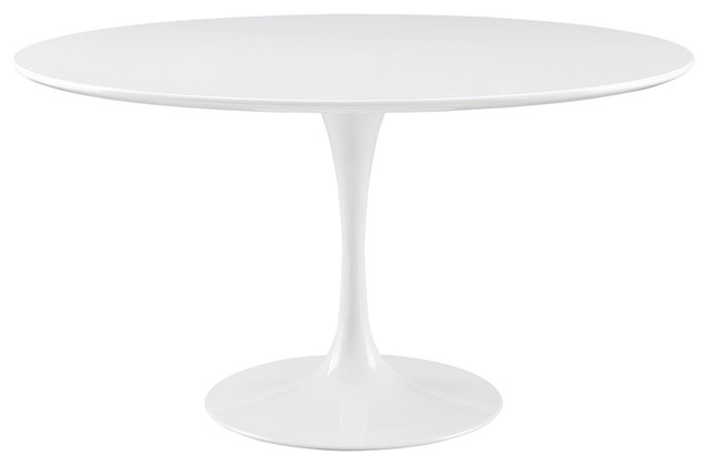 """Lippa 54"""" Round Wood Top Dining Table, White"""