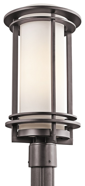 Contemporary Outdoor Post Lights Calgary Stainless Steel One