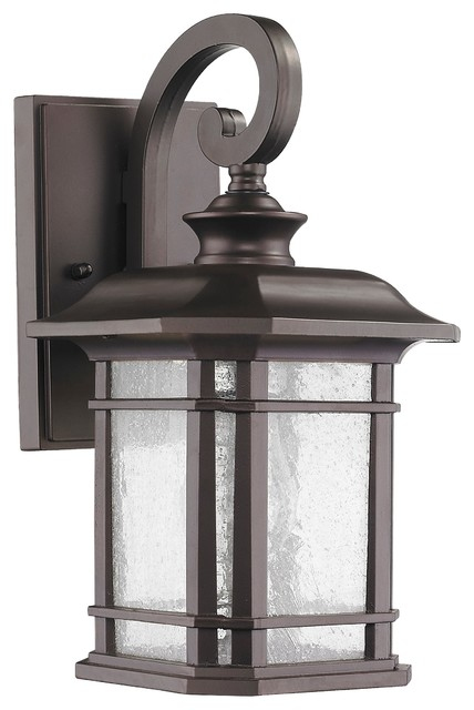 Light Rubbed Bronze Outdoor Wall Sconce
