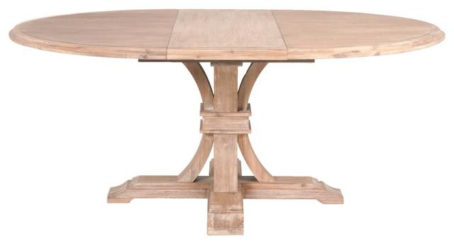Devon Round Extension Dining Table, Stone Wash