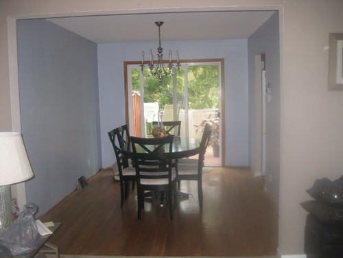 Need Ideas For Decorating A Small Dining Room With One Bare Wall