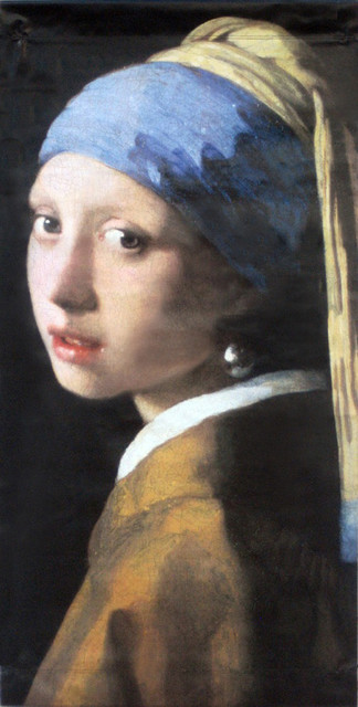 f5741c10608 Johannes Vermeer Girl with a Pearl Earring Street Banner Wall Art -  Traditional - Prints And Posters - by BetterWall